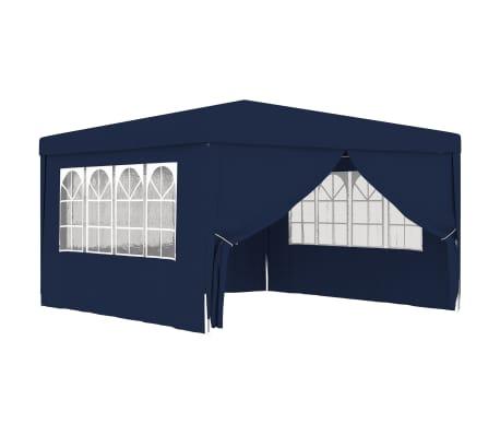 vidaXL Partytent met zijwanden professioneel 90 g/m² 4x4 m blauw