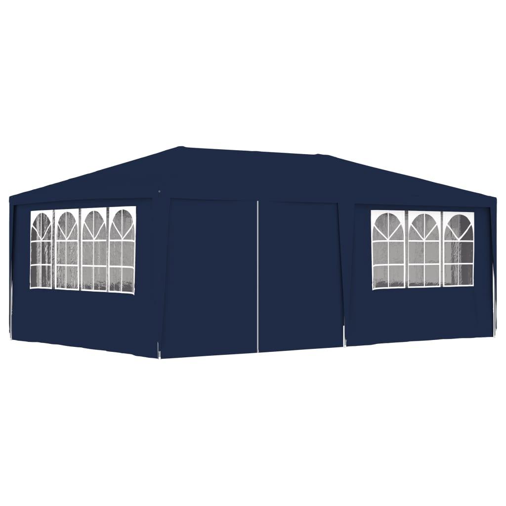 vidaXL Cort de petrecere profesional cu pereți albastru 4x6 m 90 g/m² poza 2021 vidaXL