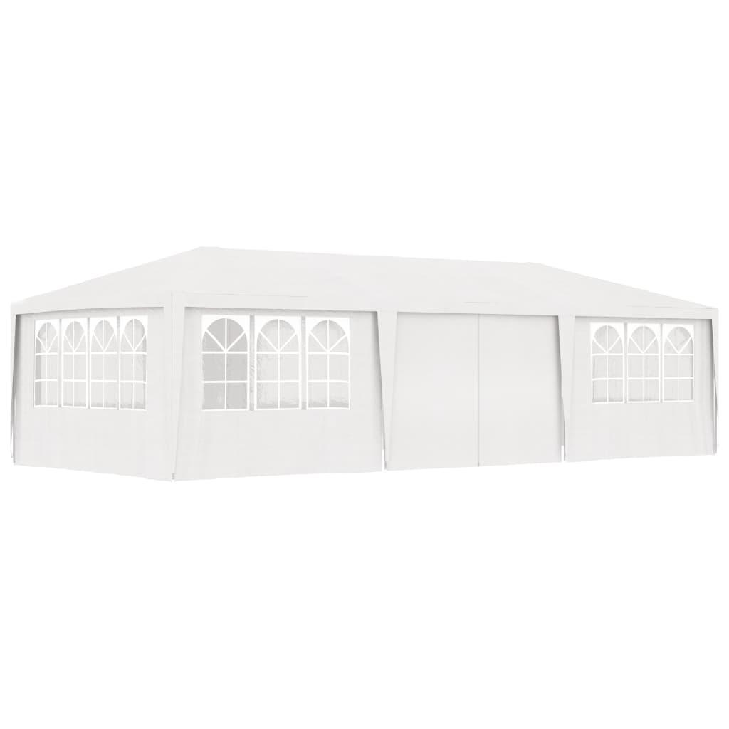 vidaXL Partytent met zijwanden professioneel 90 g-m² 4x9 m wit