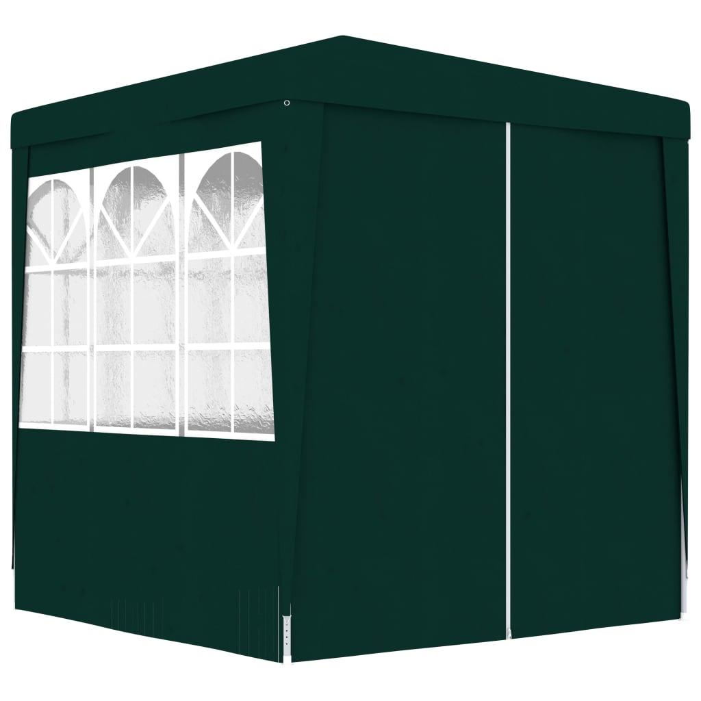 vidaXL Κιόσκι Επαγγελματικό με Τοιχώματα Πράσινο 2 x 2 μ. 90 γρ./μ²