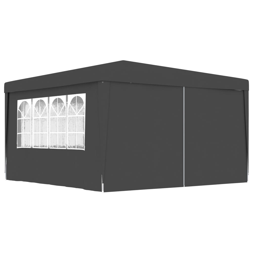 vidaXL Κιόσκι Επαγγελματικό με Τοιχώματα Ανθρακί 4 x 4 μ. 90 γρ./μ²