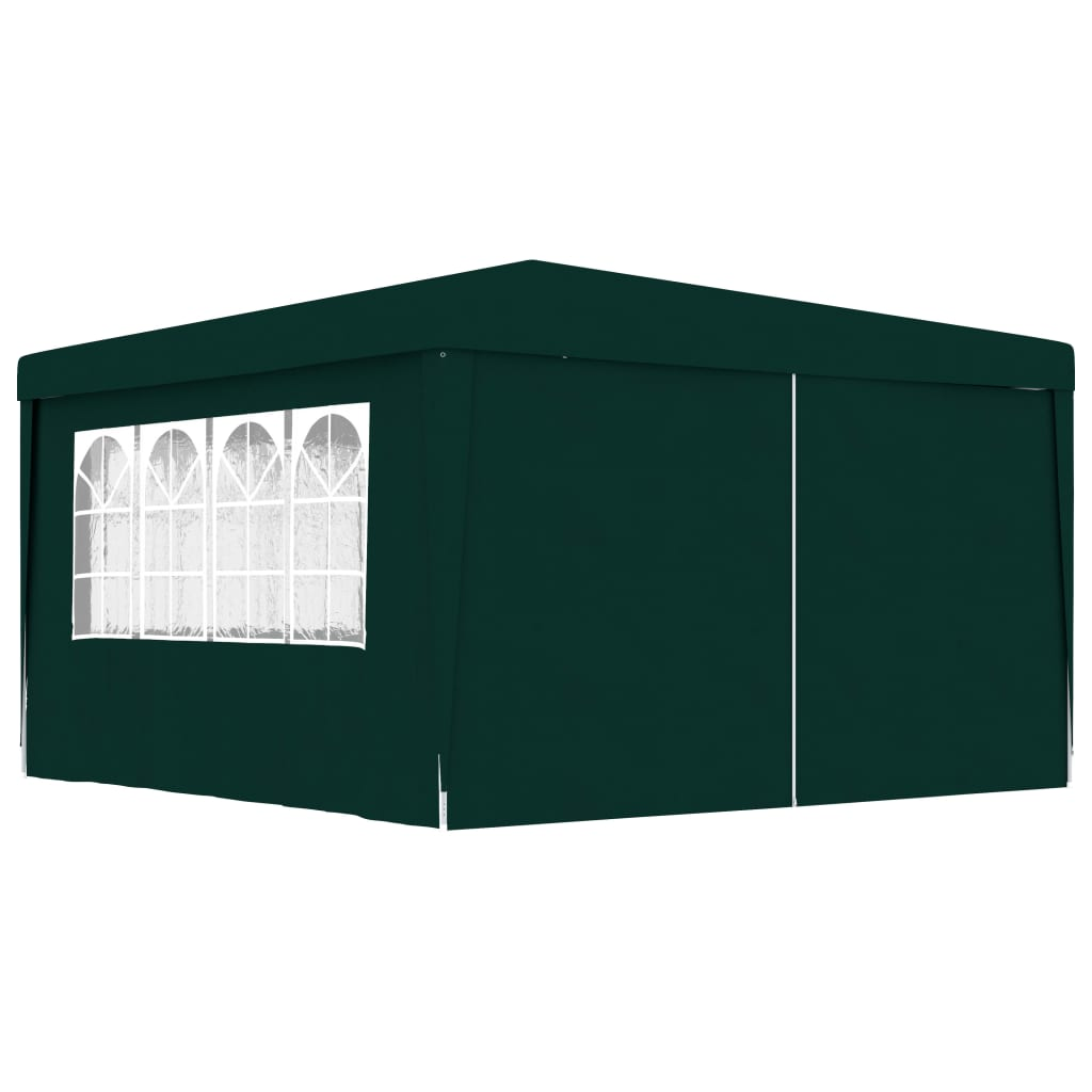 vidaXL Partytent met zijwanden professioneel 90 g-m² 4x4 m groen