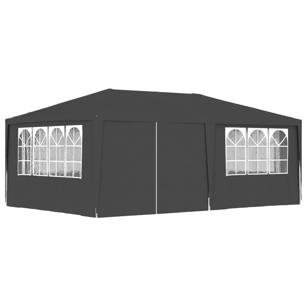 vidaXL Partytent met zijwanden professioneel 90 g-m² 4x6 m antraciet