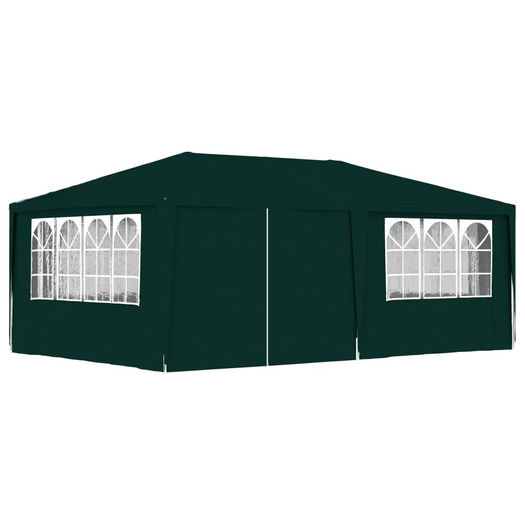 vidaXL Partytent met zijwanden professioneel 90 g-m² 4x6 m groen