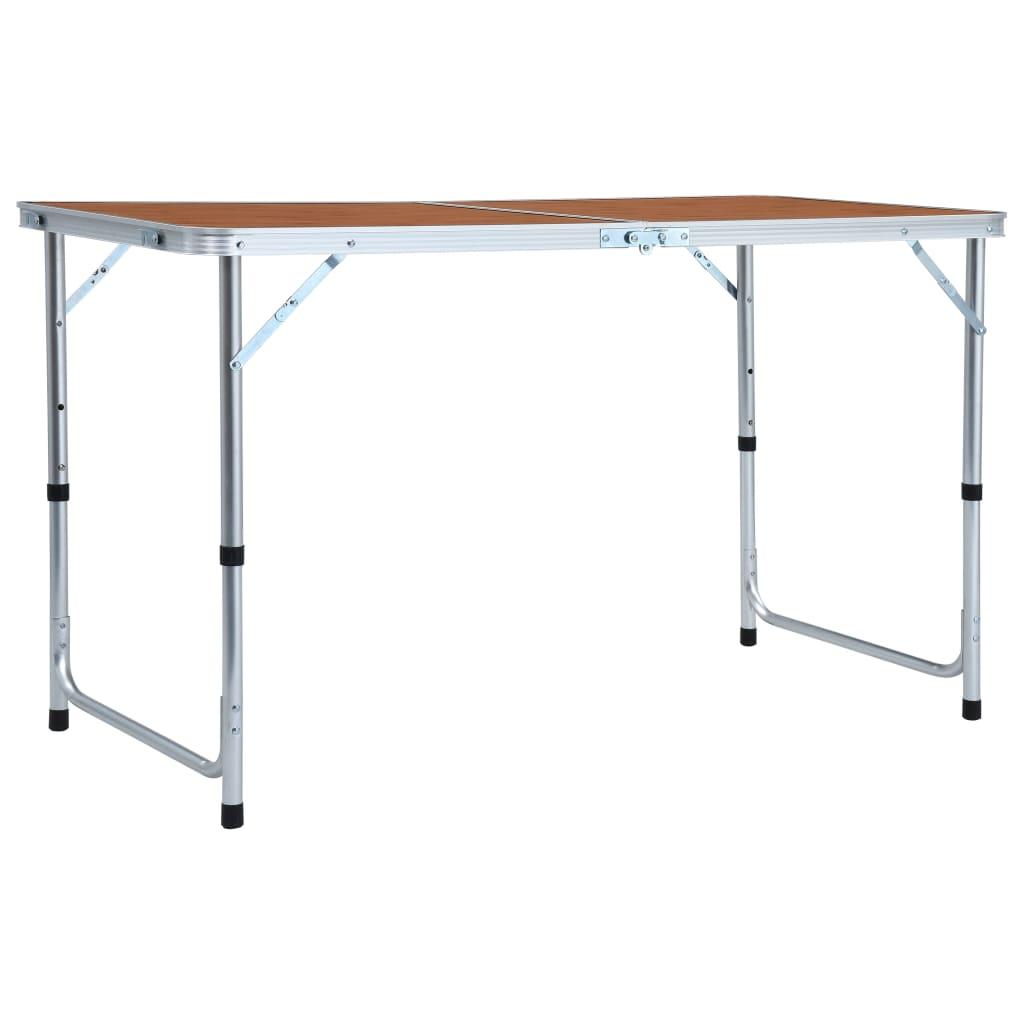 Skládací kempingový stůl hliník 120 x 60 cm