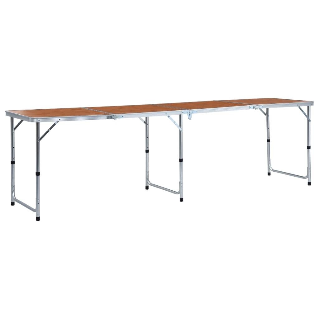 vidaXL Masă de camping pliabilă, 240 x 60 cm, aluminiu vidaxl.ro