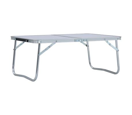 Tavolo In Alluminio Da Campeggio.Vidaxl Tavolo Pieghevole Da Campeggio Bianco In Alluminio 60x40cm