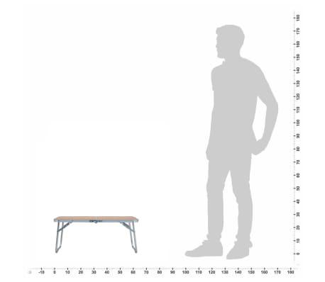 Tavoli Pieghevoli Da Campeggio.Vidaxl Tavolo Pieghevole Da Campeggio Marrone In Alluminio 60x40cm