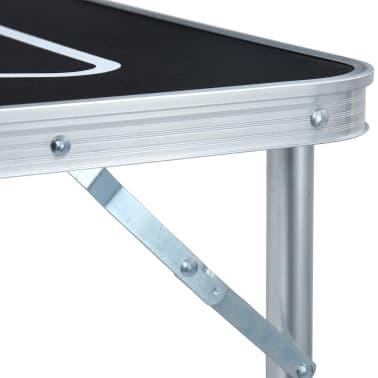 vidaXL Table de bière-pong pliable 240 cm Noir[8/10]