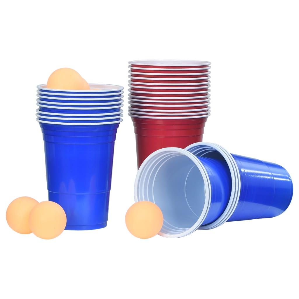vidaXL Sada na beer pong 0,5 l plast