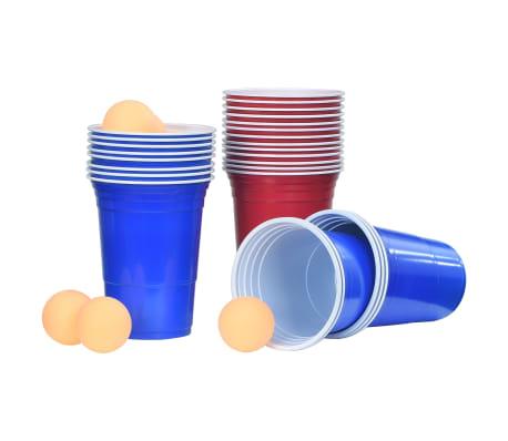 vidaXL Beer Pong Table Set 0,5 L Plastic