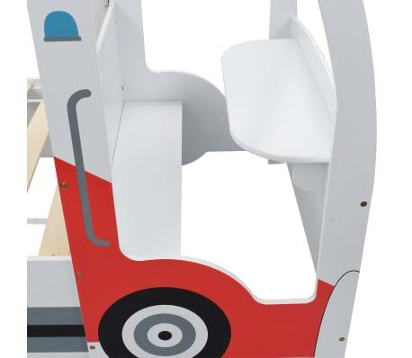 vidaXL Vaikiška lova policijos automobilis, Memory čiužinys, 90x200cm[9/20]