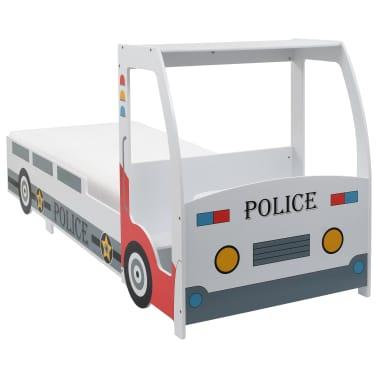 vidaXL Vaikiška lova policijos automobilis, Memory čiužinys, 90x200cm[2/20]