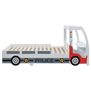 vidaXL Vaikiška lova policijos automobilis, Memory čiužinys, 90x200cm[6/20]