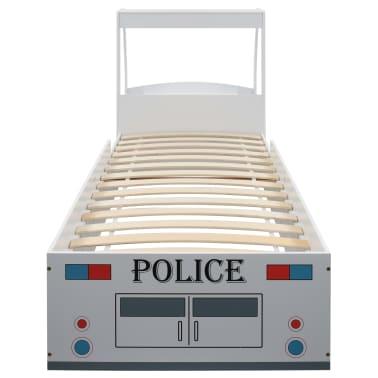vidaXL Vaikiška lova policijos automobilis, Memory čiužinys, 90x200cm[7/20]