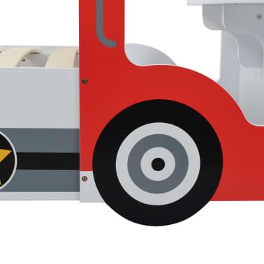 vidaXL Vaikiška lova policijos automobilis, Memory čiužinys, 90x200cm[8/20]