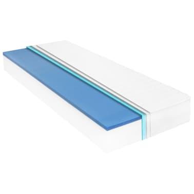 vidaXL Vaikiška lova policijos automobilis, Memory čiužinys, 90x200cm[10/20]