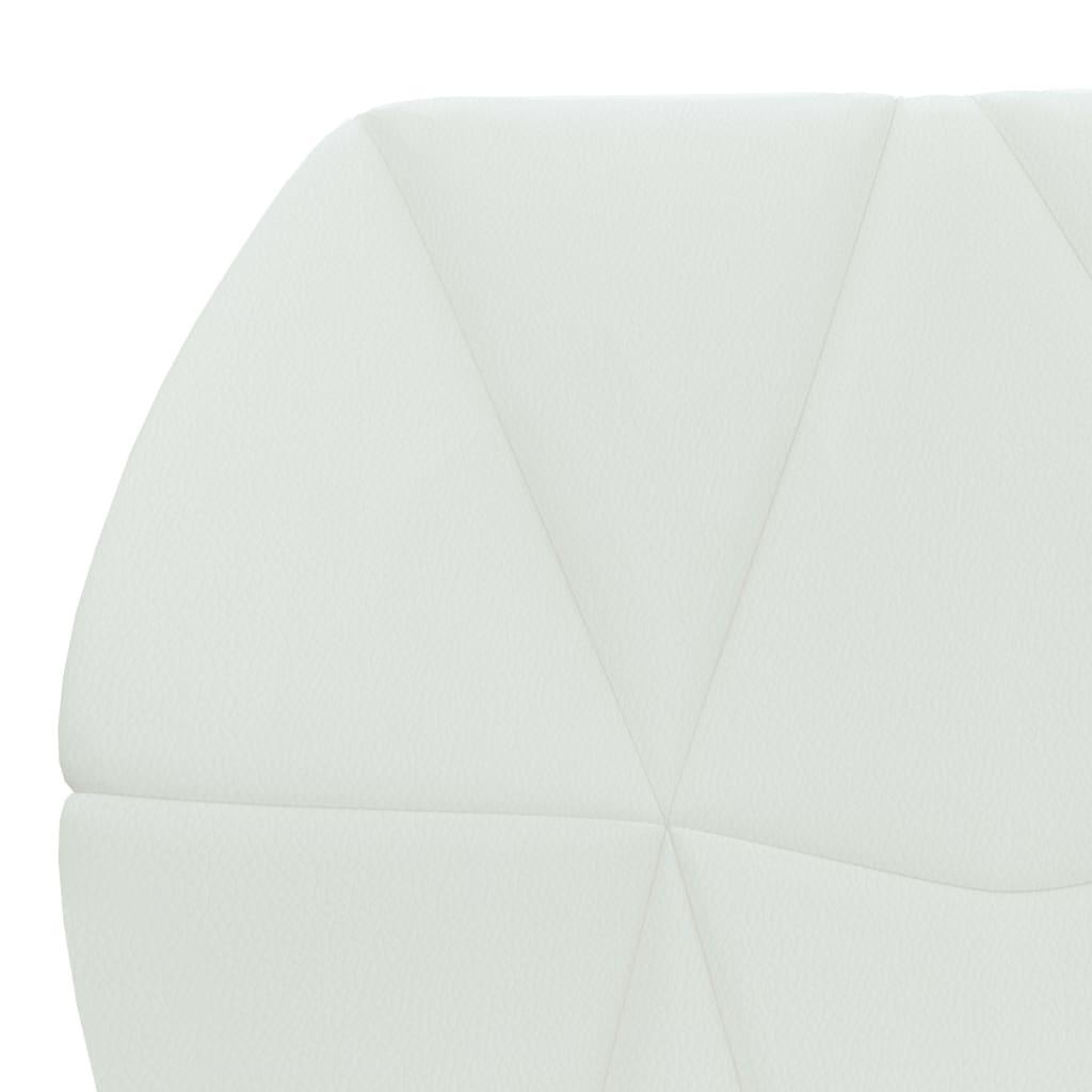 vidaXL Eetkamerstoelen 2 st kunstleer wit
