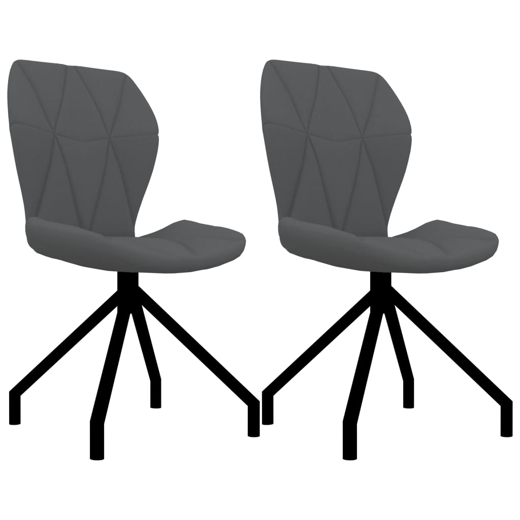 Jídelní židle 2 ks šedé umělá kůže