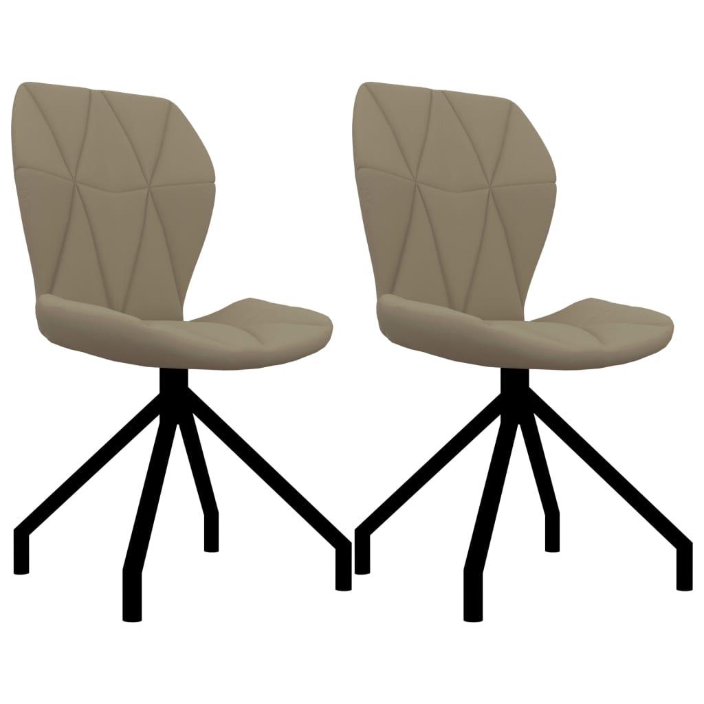 vidaXL spisebordsstole 2 stk. cappuccinofarvet kunstlæder