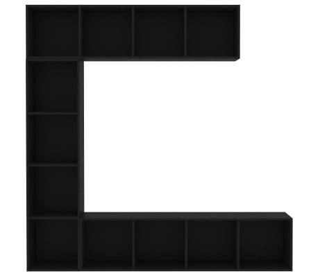 "vidaXL 3 Piece Book/TV Cabinet Set Black 70.9""x11.8""x70.9""[4/6]"