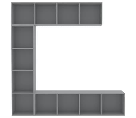 vidaXL Spint. knygoms/televizoriui rink., 3d., pilk. sp., 180x30x180cm[4/6]