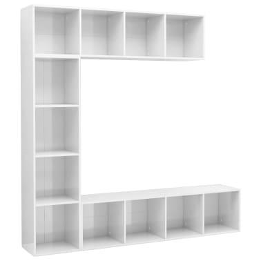 vidaXL Spint. knygoms/televizoriui rink., bal. sp., 3 d., 180x30x180cm[2/6]