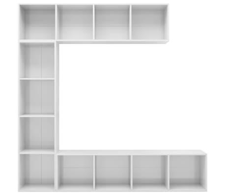 vidaXL Spint. knygoms/televizoriui rink., bal. sp., 3 d., 180x30x180cm[4/6]