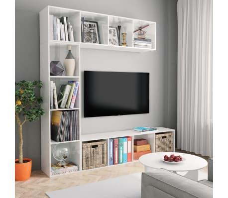 vidaXL Spint. knygoms/televizoriui rink., bal. sp., 3 d., 180x30x180cm[1/6]