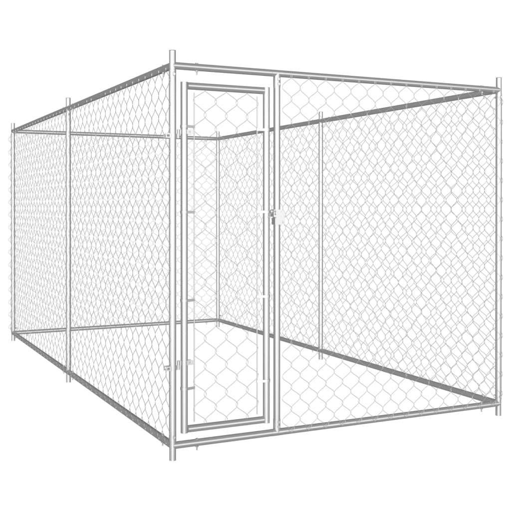 vidaXL Padoc pentru câini de exterior, 382 x 192 x 185 cm imagine vidaxl.ro