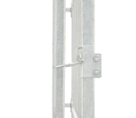 """vidaXL Outdoor Dog Kennel Galvanised Steel 299.2""""x299.2""""x76.8""""[4/5]"""