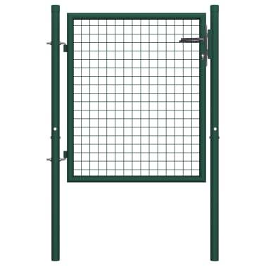 vidaXL Poort 100x75 cm staal groen[1/5]