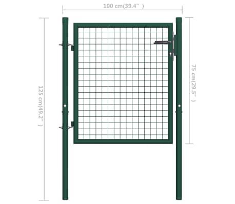 vidaXL Poort 100x75 cm staal groen[5/5]