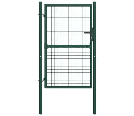 vidaXL Πόρτα Περίφραξης Πράσινη 100 x 150 εκ. Ατσάλινη