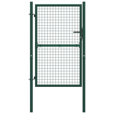 vidaXL Poort 100x175 cm staal groen[1/5]