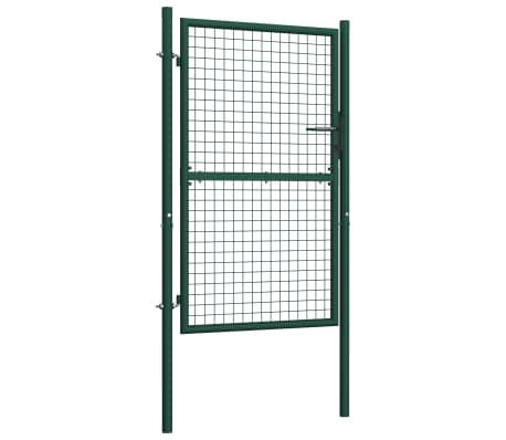 vidaXL Poort 100x175 cm staal groen[2/5]