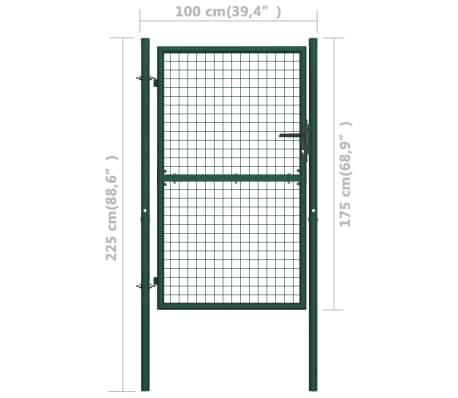 vidaXL Poort 100x175 cm staal groen[5/5]