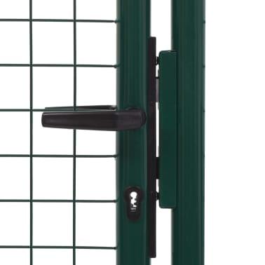 vidaXL Poort 100x200 cm staal groen[4/5]