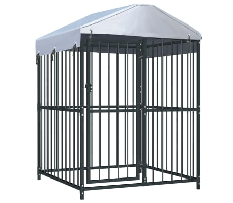 """vidaXL Outdoor Dog Kennel with Roof 47.2""""x47.2""""x59"""""""