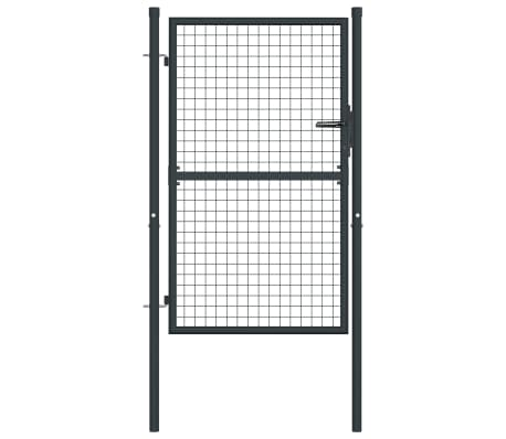 "vidaXL Mesh Garden Gate Galvanised Steel 39.4""x68.9"" Gray"