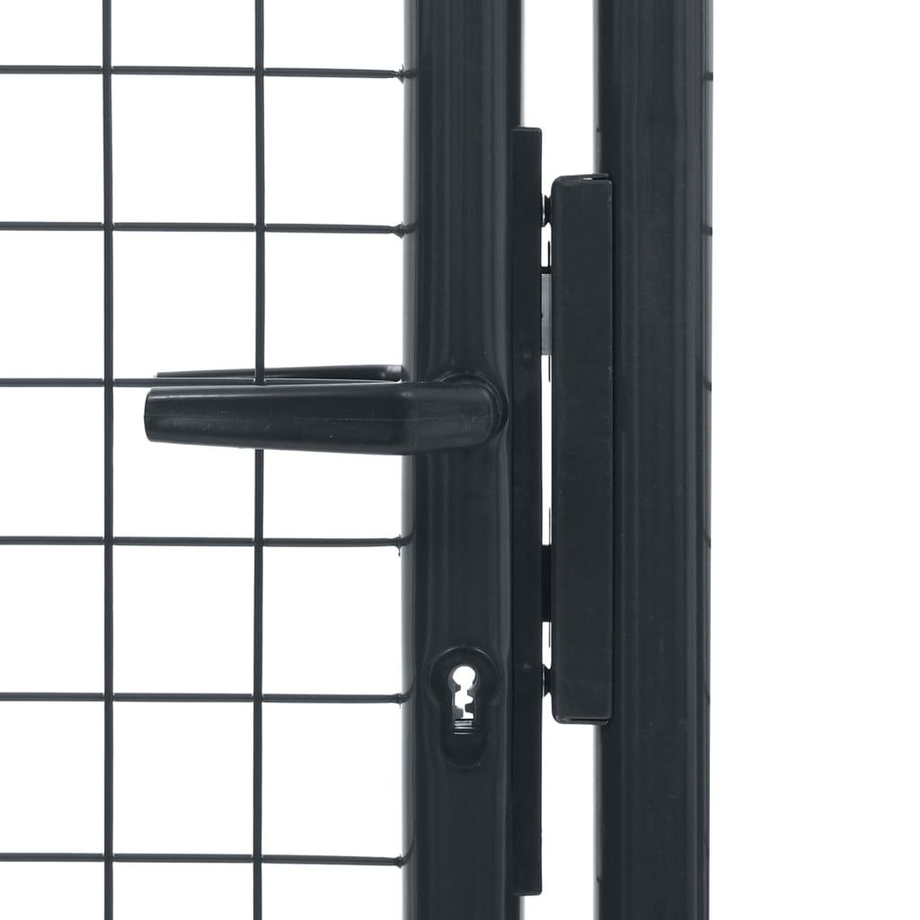 vidaXL Gaaspoort 100x255 cm gegalvaniseerd staal grijs