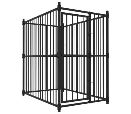 vidaXL Външна клетка за кучета, 150x100x150 см