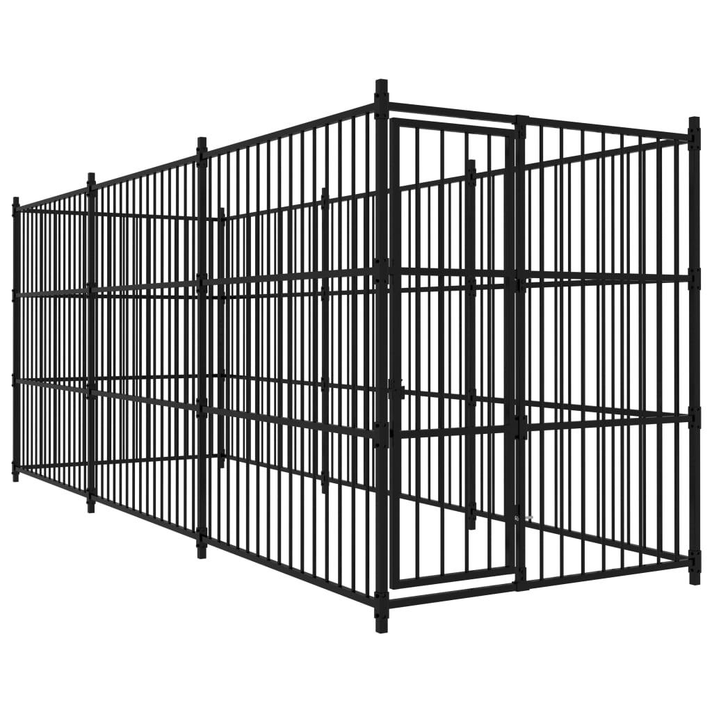 vidaXL Padoc pentru câini de exterior, 450 x 150 x 185 cm poza vidaxl.ro