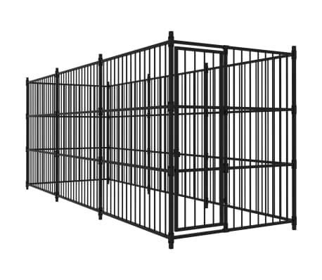 vidaXL Външна клетка за кучета, 450x150x185 см