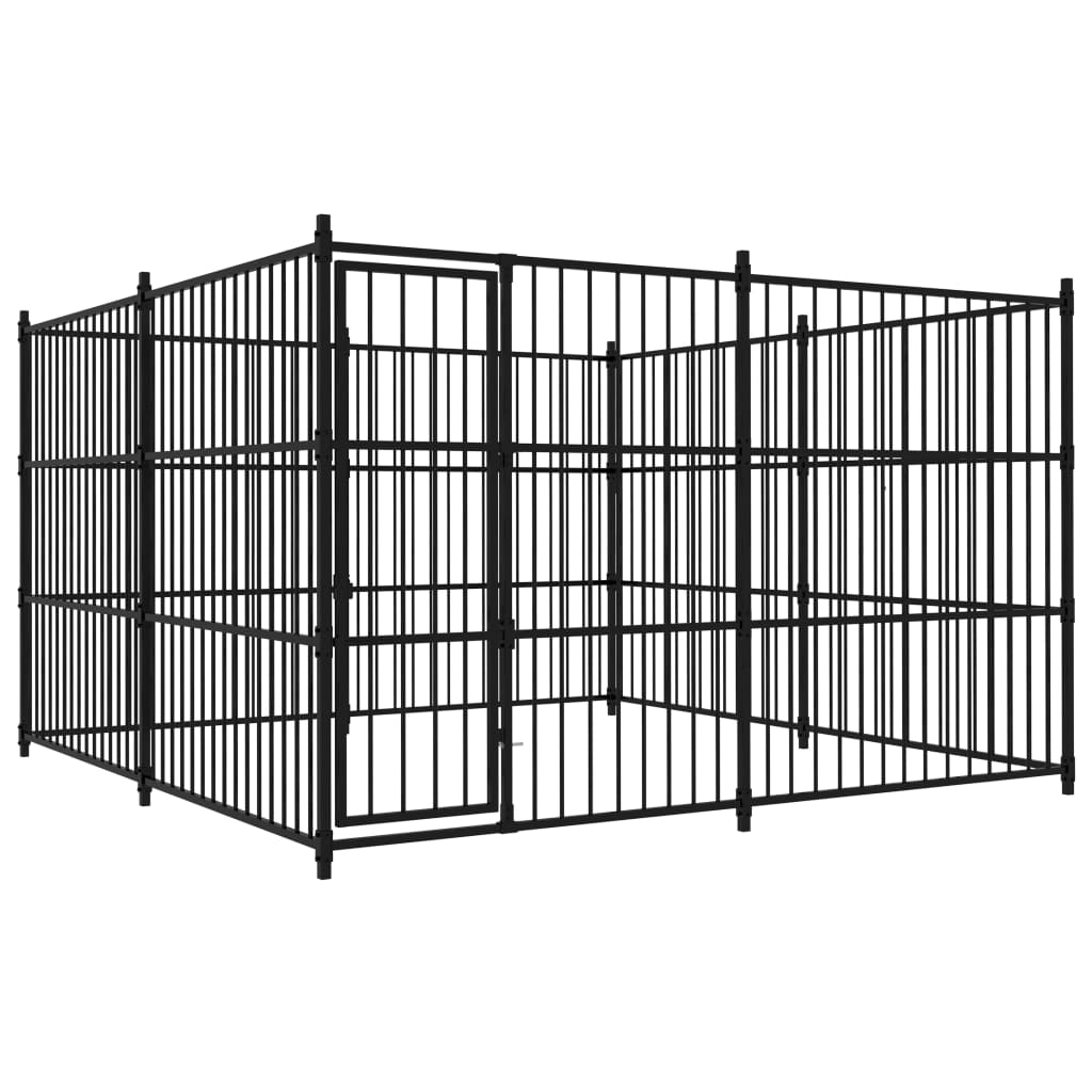 vidaXL Padoc de exterior pentru câini, 300 x 300 x 185 cm imagine vidaxl.ro