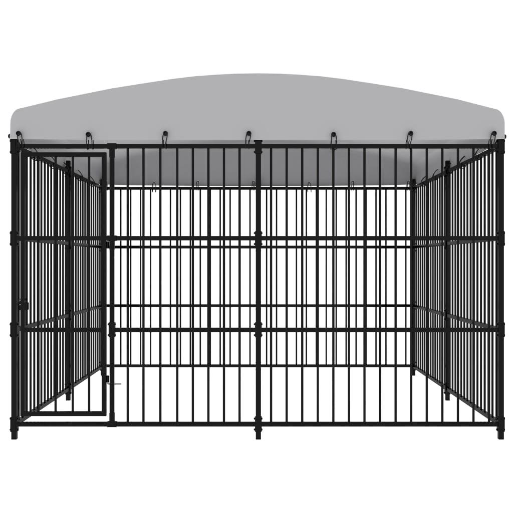 vidaXL Hondenkennel voor buiten met dak 300x300x210 cm