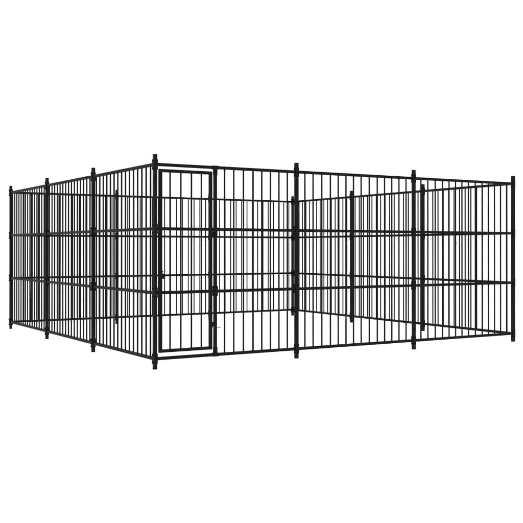 vidaXL Padoc de exterior pentru câini, 450x450x185 cm imagine vidaxl.ro