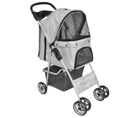vidaXL Huisdierenwagen voor honden/katten opvouwbaar grijs