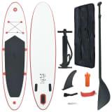 vidaXL SUP surfingbräda uppblåsbar röd och vit
