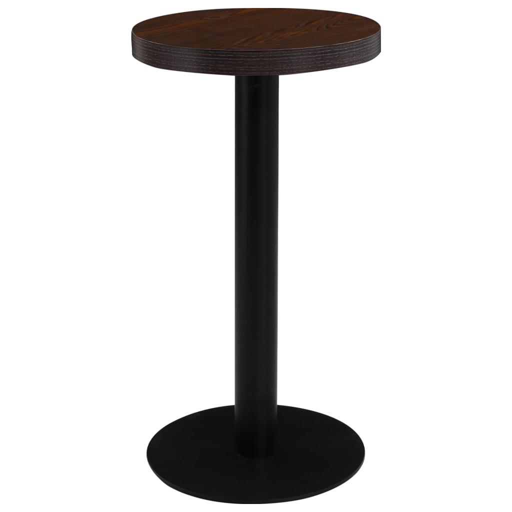Bistro stolek tmavě hnědý 40 cm MDF